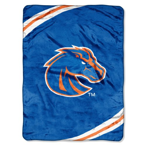 The Northwest Company Officially Licensed NCAA Boise State Broncos Force Plush Raschel Throw Blanket, 60
