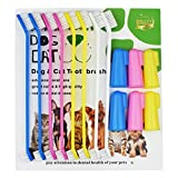 Product review for Dog Toothbrush Cat & Dog Finger Toothbrush Soft Bristle Pet Toothbrush Combo Pack For The Dental Care of Your Small to Large Dogs, Cats, & Most Pets (6 Finger +8 Head toothbrush)
