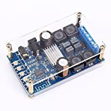Icstation 2X50W Bluetooth Digital Stereo Audio Amplifier Power Amp Module with Protective Case Button Control