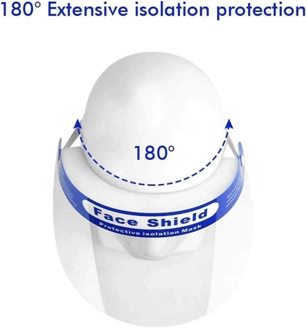 JFJL 10Er Pack Safety Face Shield Wiederverwendbare Transparente Staubdichte Vollgesichts-Schutzfolie Mit Elastischem Schutzfilm Winddichte