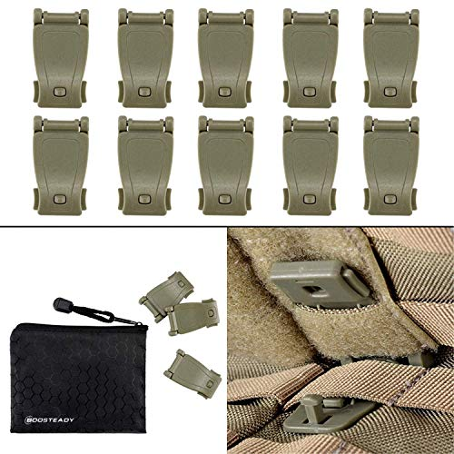 Multipurpose MOLLE Clip Tactical Strap Management Tool Web Dominator Buckle for Tactical Bag, Backpack