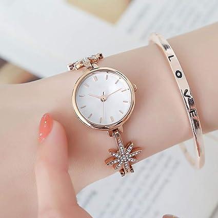 LJF Reloj de Las Mujeres Tendencia Simple de la Moda Reloj Femenino Reloj de los Estudiantes