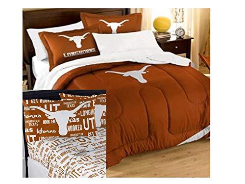 (Northwest NCAA Texas Longhorns Applique Full Bedding Set #27956018)