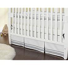 Triboro Just Born Crib Skirt - Gray