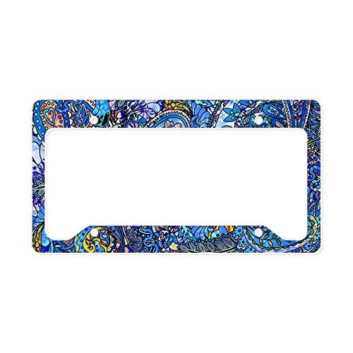 - CafePress - Extra Wild Paisley - Aluminum License Plate Frame, License Tag Holder