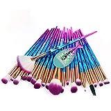 Sunbona Clearance Sale MAANGE 21PCS Make Up Foundation Eyebrow Eyeliner Blush Cosmetic Concealer Brushes (B)