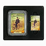 Glass Ashtray Oil Lighter Gift Set Vintage Poster D-150 Howe Bicycles Tricycles Howe Machine