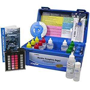 taylor k 2005c service complete pool test kit k2005c garden outdoor ForSwimming Pool Test Kits Amazon