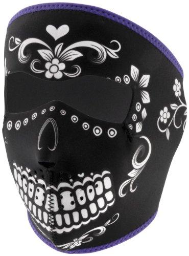 Zan Headgear Neoprene Full Face Mask , Gender: Mens/Unisex, Primary Color: Black, Distinct Name: Muerte, Size: OSFM WNFM078