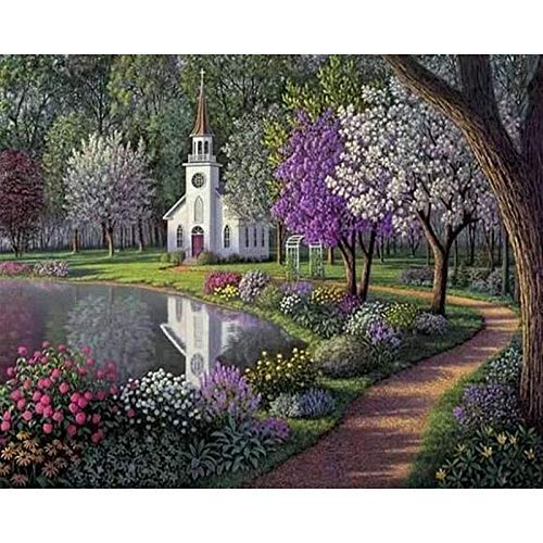 Paint by Numbers for Kids Adults DIY Oil Painting Kit Beginner [Wooden Frame] - Hyde Purple Park 16