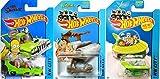 Hot Wheels Tooned Flintstone, Jetsons & Homer Simpson Cars