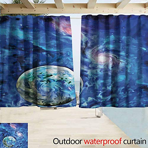 - AndyTours Rod Pocket Blackout Curtain Panels,Constellation Exo Solar Planet Painting Style Vibrant Universe Awesome Space,Room Darkening, Noise Reducing,W63x72L Inches,Turquoise Blue Pale Pink