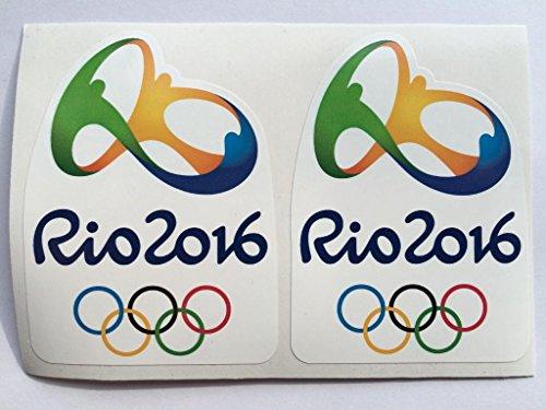 2 Rio de Janeiro 2016 Summer Olympics Die Cut Decals