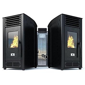 Estufa de pellets de aire Estufa ventiladora Eco Spar Modelo de aire Solara Salida de calor 6kW: Amazon.es: Bricolaje y herramientas
