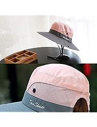 2 unidades de sombrero de sol para mujer, protección UV, malla plegable, ala ancha, gorra de pesca para playa