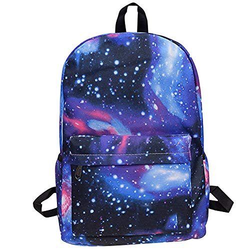 71e377a8594a Gorgebuy Starry Sky Backpack - Canvas Satchel Galaxy Schoolbag Sports Bags  - Knapsack Rucksack for Harajuku Boys and Girls (Starry Blue)