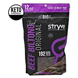 Stryve Biltong Keto Protein Snacks - Healthy Air Dried Beef | More Protein than Beef Jerky, Low Carb, Gluten Free, Sugar Free, Paleo Friendly | Original, 12oz