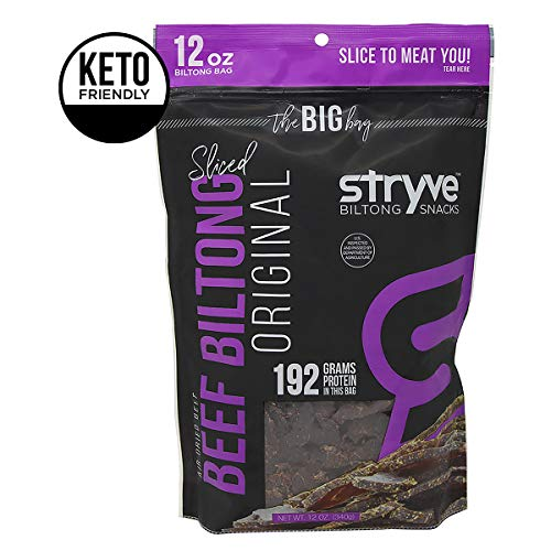Stryve Biltong Keto Protein Snacks - Healthy Air Dried Beef