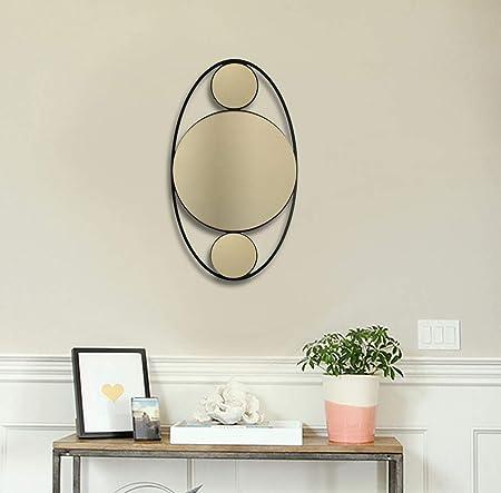 Baupor Design Unique Ovale Soho En Metal Miroir Mural
