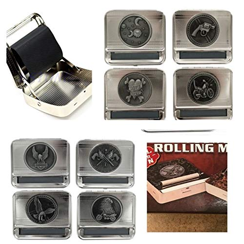 Rolling Cigarette Machine-Roll Your Own Cigarettes Machine-Tobacco Joint Rolling Machine 2 Pack Random Designs (Best Roll Your Own Tobacco)