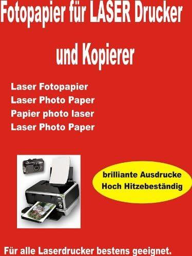 P4L - 100 Blatt DIN A4 220g/m² BEIDSEITIG hochglänzendes Fotopapier (High Glossy) für Laserdrucker/Kopierer