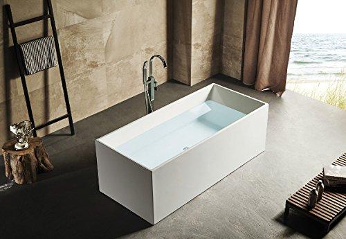 Vasca Da Bagno Freestanding Rettangolare : Vasca da bagno freestanding rettangolare 170x75cm polaris con