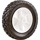 Shepherd Hardware 9611 7-Inch Semi-Pneumatic Rubber Replacement Tire, Plastic Wheel, 1-1/2-Inch Diamond Tread