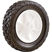 Shepherd Hardware 9615 10-Inch Semi-Pneumatic Rubber Replacement Tire, Plastic Wheel, 1-3/4-Inch Diamond Tread