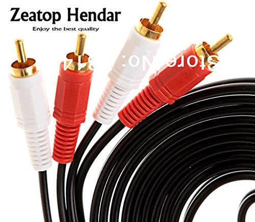 Gimax 1Pcs 1.5M audio cable 2 RCA to 2RCA AV cable for Phono Plugs Gold Plated Connector