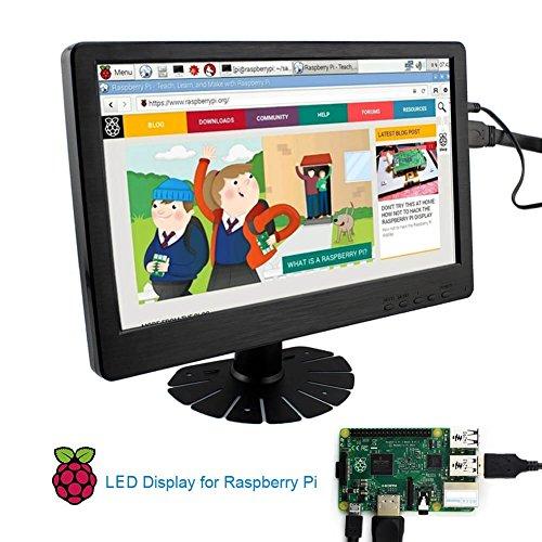 Elecrow 12-Inch 1920X1080 HDMI DVI-D VGA PS3 PS4 WiiU Xbox360 1080P Display Monitor for Raspberry Pi 2B B+ Raspberry Pi 3B Windows 7 8 10 by Elecrow (Image #3)