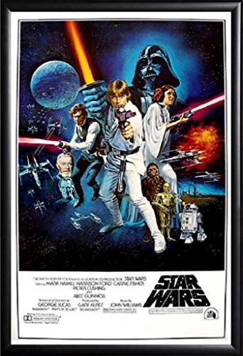 Framed Star Wars: A New Hope Movie   24x36 Poster in Basic