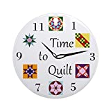 quilter ornament - CafePress - Time to Quilt Clock - Round Holiday Christmas Ornament