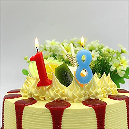Sellify 2 HOT Sale 1pc Cake Numbers Age Candle Kids Baby Birthday Anniversary Party Supplies Decoration Amazonin Home Kitchen