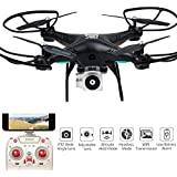 Littleice Wide Angle Lens HD Camera Remote Control Quadcopter RC Drone With WiFi FPV Live Helicopter Hover (Black)