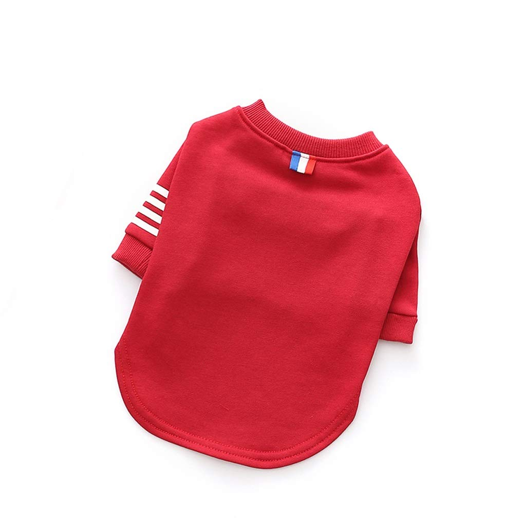 LZRZBH Pet Supplies Dog Cat Clothes Teddy Dog Clothes Casual Sweater Pet Vest Cat Pet Clothing, Blue, Red, Gray (XS-XXL) (Color : Red, Size : S)
