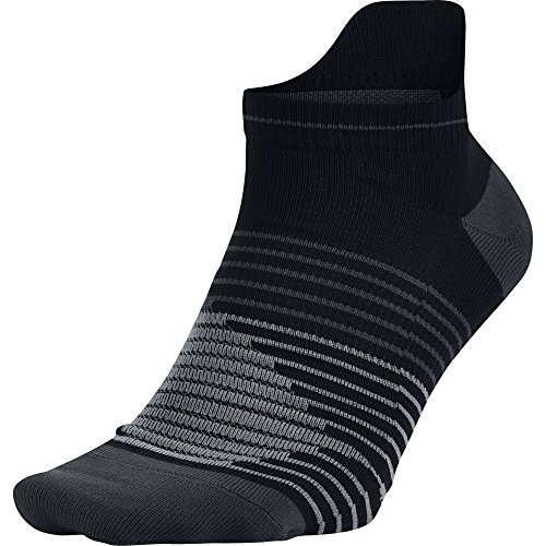NIKE Unisex Performance Lightweight No-Show Running Socks (1 Pair), Black/Anthracite/Anthracite, Small (W: 4-6)