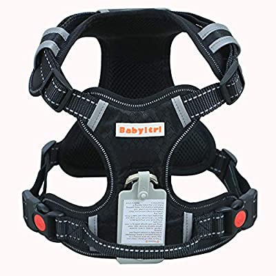 Babyltrl Big Dog Harness No-Pull Adjustable Pet Harness Reflective Oxford Material Soft Vest for Large Dogs Easy Control Harness