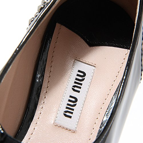 Loafer 8488I Mocassino Women Shoes Miu Nero Donna Nero Scarpa Miu qwxCX7