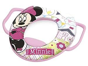 Lulabi - Disney - Minnie - Reductor de inodoro blando con asas, rosa