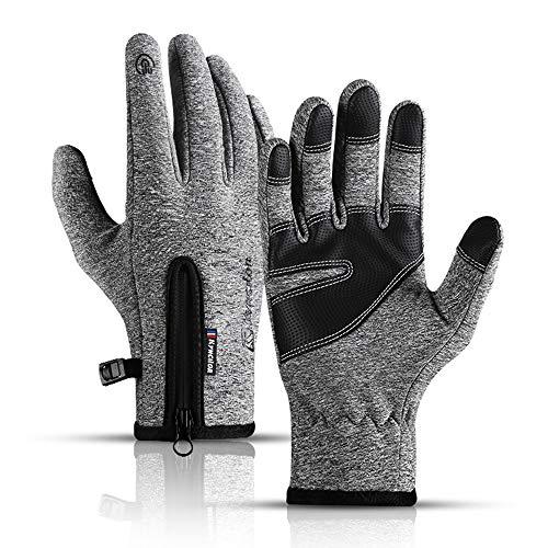 Podanic Ski-warme Herenhandschoenen, Wind- en Waterdichte Sporthandschoenen, Antislip MTB-Handschoenen, Touchscreen…