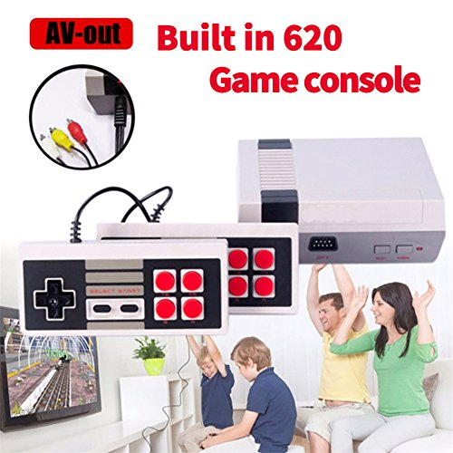 H&ZT Craft Classic Game Consoles,FC Mini Game Consoles Built-in 620 TV Video Games with Double Controllers (620 Game)
