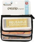 Blue Avocado Snack Zip Bag, Black, 3 Count (Pack of 24)