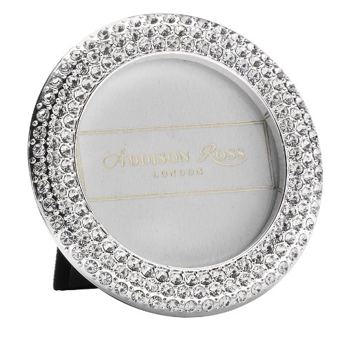 - Addison Ross, Diamante Bling Photo Frame, 2.5x2.5, Circle, 2.5 x 2.5 Inches
