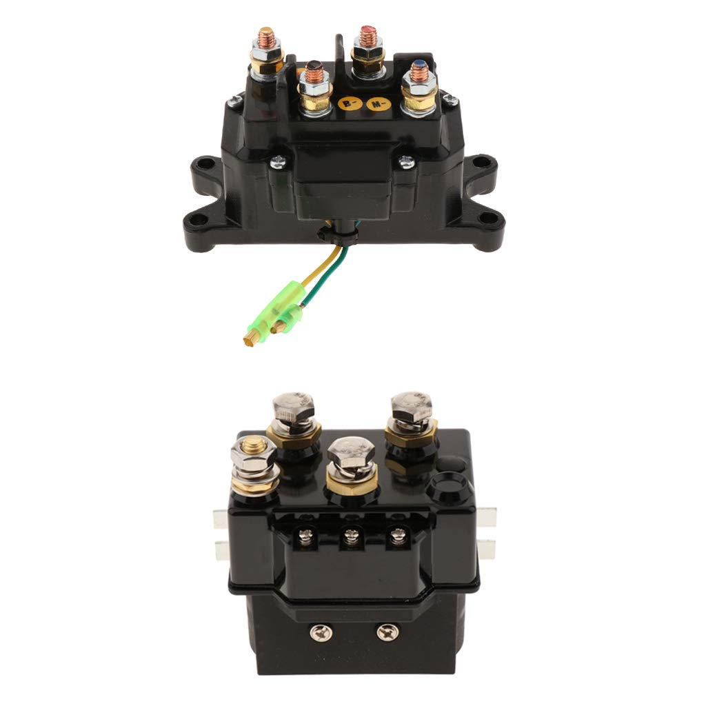 kesoto 2pcs DC 12V 200A Solenoid Relay Contactor, Winch Rocker Thumb Switch Fits for ATV UTV 4x4 Wheeler Winches by Kesoto
