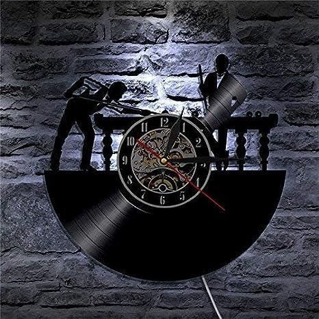 WYFCC Mesa De Billar Vinilo Reloj De Pared Led Piscina Juego Casa ...