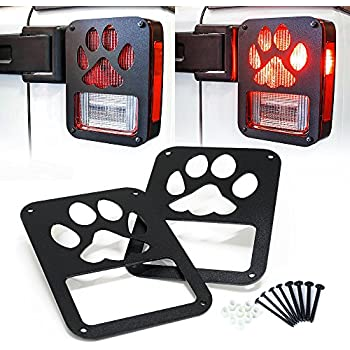 Amazon Com Xprite Tail Light Cover Guard Quot Dog Paw Quot For