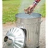 Galvanized Metal Garden Incinerator Can