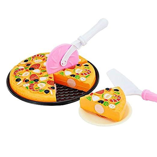 11Pcs Cocina Muñecos Plástico Pizza Corte Juguete Miniatura ...