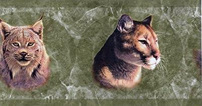 Green Wild Cats Wallpaper Border 112174 HB