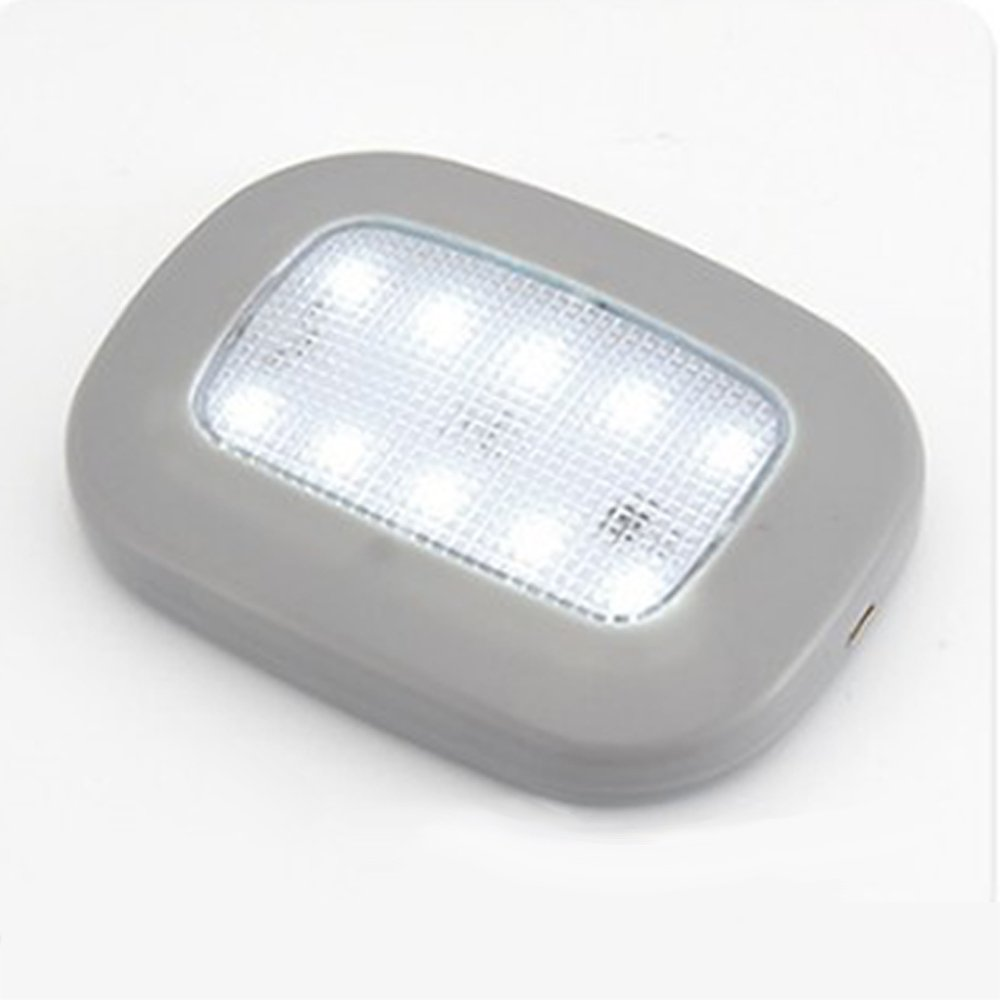 Fochutech Magnetic Suction Car Reading Lamp Plate Lights Beige//Gray//Black Gray with White Light LED Car Interior Dome Lights,Tail Box Lights,Car Reading Lights